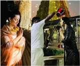 Kangana Ranaut In Rameshwaram: रामेश्वरम् पहुंचीं कंगना रनोट, कुएं के पानी से किया स्नान, देखें तस्वीरें
