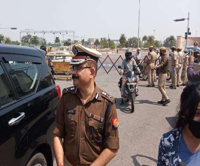 Lock Down in Lucknow : माल आपूर्ति में कई जगह लगा बाधाओं का ब्रेक, दूध वाहनों को मिला पास