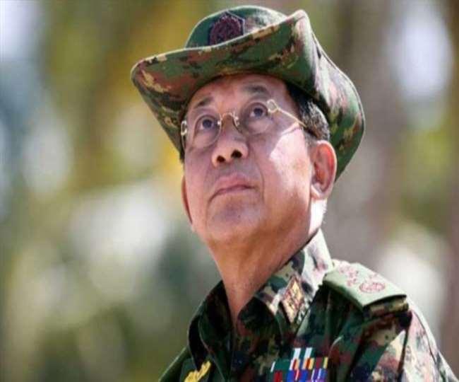 म्यांमार के सैन्य प्रमुख मिन आंग लाइंग की फाइल फोटो।