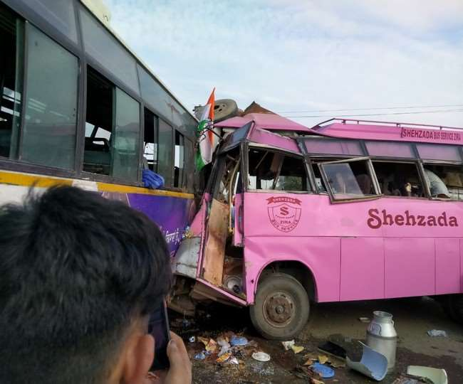 Congress Worker Bus Accident in Moga 4 Dead 24 injured