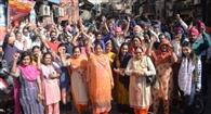 बैंक कर्मियों ने हड़ताल कर केंद्र सरकार के खिलाफ निकाली रोष रैली