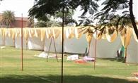 जीजेयू में एचएसबी पार्क में लगा भव्य पंडाल, आज लगेगा दिवाली मेला