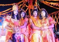 गले मिले प्रभु राम-भरत, हुई पुष्पवर्षा