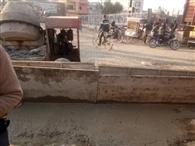 राजनगर की पुलिया का निर्माण