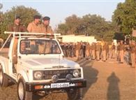पुलिस लाइन में गणतंत्र दिवस परेड का रिहर्सल