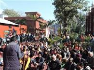कॉलेज की जमीन बचाने के लिए फिर प्रदर्शन, बाजवा बोले-जगह सरकारी