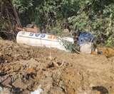 अयोध्या में टला बड़ा हादसा, हाईवे पर पलटा LPG गैस टैंकर-लीकेज सेे छह घंटे रूट डायवर्टAyodhya News