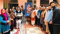 परशुराम मंदिर में चंद्रशेखर आजाद का मनाया शहीदी दिवस
