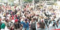 डीसी कार्यालय के सामने किसानों ने दिया धरना