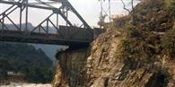 खतरे में मुनस्यारी के प्रवेश द्वार भुजगड़ का पुल