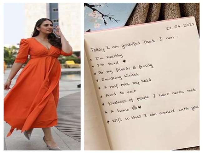 Huma Qureshi shared positive points,Said 'be thankful for what you have'. photo source @iamhumaq instagram.