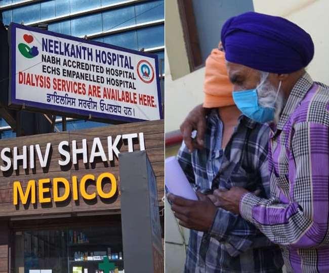 अमृतसर के नीलकंठ अस्पताल में ऑक्सीजन की कमी से छह मरीजों की मौत।