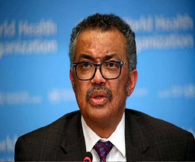 विश्व स्वास्थ्य संगठन (डब्लूएचओ) के प्रमुख टेड्रोस अधोनम घेब्रेयेसस