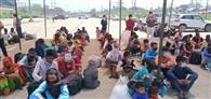 प्रवासी मजदूरों को पुलिस प्रशासन ने रोडवेज बसों से भेजा घर