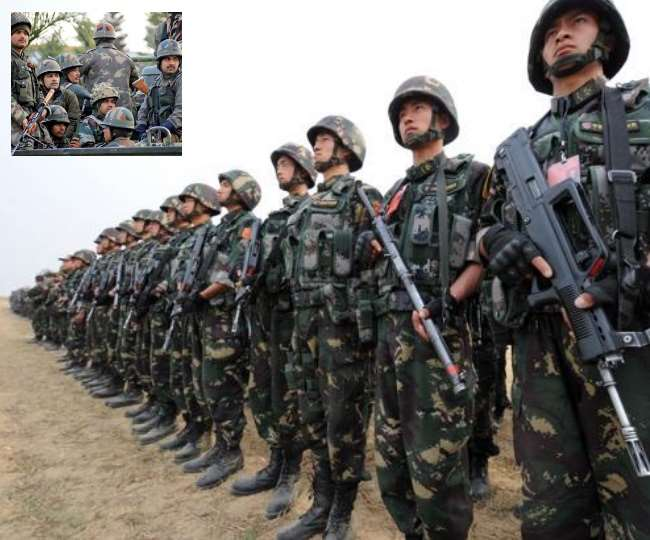 China has a huge troops on the border built 100 tents Indian army also  increased troops
