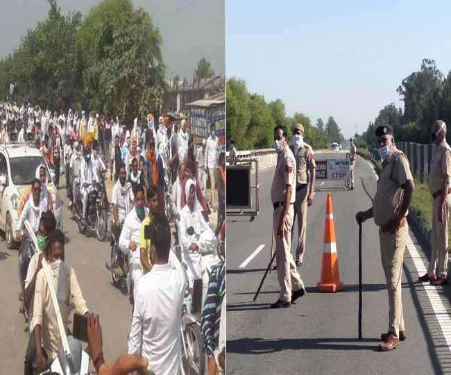 आंदोलनकारी किसानों को दिल्ली जाने से रोकने के लिए हरियाणा सरकार ने सील किए बार्डर