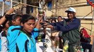 बालिका फुटबॉल में रजौली विजेता