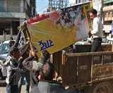 राजगुरु मार्केट में अतिक्रमण हटाने पहुंची निगम की टीम, व्यापारियों ने जोड़े हाथ फिर भी काटे चालान