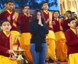अभिनेत्री जेनिफर विंगेट ने परमार्थ निकेतन में की गंगा आरती