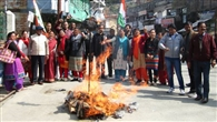 प्रदेश में शराब सस्ती करने के विरोध में कांग्रेस