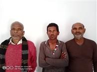 मालगाड़ी से कोयला उतारने के तीन आरोपित गिरफ्तार