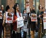 सिंध में नाबालिग का जबरन धर्म परिवर्तन, लंदन में संयुक्त राष्ट्र कार्यालय के बाहर भारतीयों ने किया विरोध प्रदर्शन