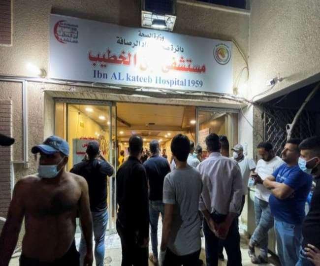 बगदाद में कोविड अस्पताल में आग, 82 की मौत, 110 से ज्यादा लोग घायल। एजेंसी।