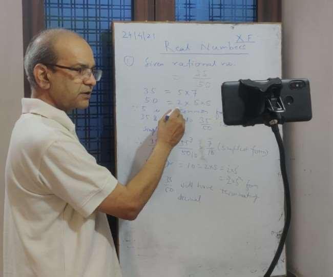 Corona Fighters, Ranchi Samachar डीएवी हेहल के गणित के सीनियर शिक्षक संजय कुमार शर्मा का।
