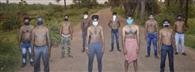 हर्ल से हटाए गए मजदूरों ने किया अर्द्धनग्न प्रदर्शन