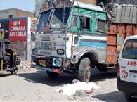 सब्जी मंडी के सामने अपने ही ट्रक से कुचला ड्राइवर, मौत