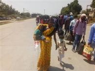 दोराहा से बिहार के लिए गई तीन ट्रेनें, श्रमिक खुश