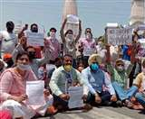 70 फीसद स्कूल फीस पर हंगामा, विरोध में आम आदमी पार्टी का पटियाला में प्रदर्शन