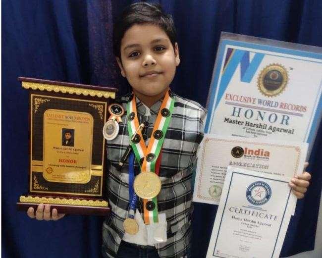 ओडिशा के बाल कलाकार ने कोरोना काल में अपने नाम किए तीन विश्व रिकार्ड