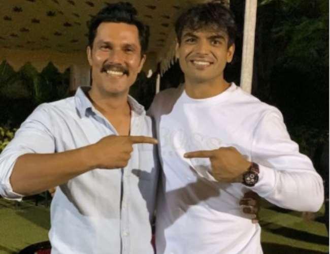 Randeep Hooda and Neeraj Chopra. Photo- Instagram