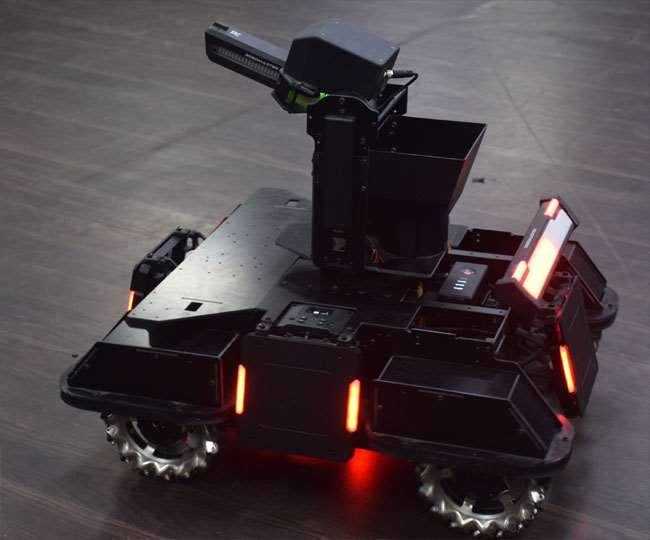 रोबोट एक सेकेंड में पांच गोलियां चलाता है