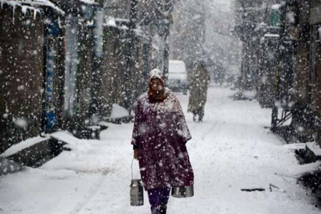 snowfall continues for the third day in the Kashmir valley tomorrow the  weather will be dry
