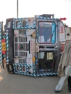 भिवानी रोड पर सड़क धंसने से ट्रक पलटा