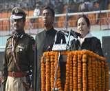 Republic Day 2020 : गुरु नानक स्टेडियम में कैबिनेट मंत्री अरुणा चौधरी ने फहराया तिरंगा