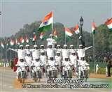 Republic Day parade 2020: राजपथ पर CRPF की डेयरडेविल्स ने दिखाया हैरतअंगेज करतब, देखें तस्वीरें