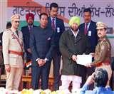 इंटरनेशनल शूटर अजितेश कौशल को मुख्यमंत्री ने किया सम्मानित, BSF के डीआईजी को प्रेसीडेंट मेडल