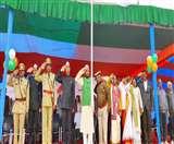 Republic Day 2020: 71वें गणतंत्र दिवस पर नेहरू स्टेडियम में प्रभारी मंत्री ने किया ध्वजारोहण