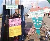 CAA Protest in Lucknow : अराजकतत्व को महिलाओं ने पीटा, सुरक्षा को लेकर पुलिस सतर्क