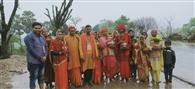 श्रीविष्णु महायज्ञ की सफलता को निकाली गई कलश यात्रा