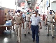 आइजी रेलवे ने देखी जंक्शन की सुरक्षा व्यवस्था