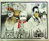 इस पेंटिंग में पीएम मोदी के साथ दिखे पुलिस व डॉक्टर, ऑनलाइन प्रतियोगिता में मिला गोल्ड मेडल