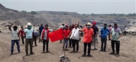 कापासारा आउटसोर्सिग में मजदूरों की छटनी के विरोध में मासस ने बंद कराया काम