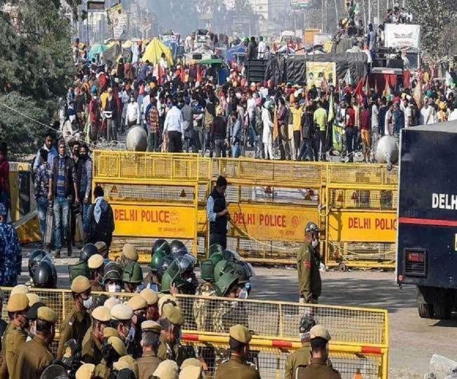 किसान आंदोलन को लेकर खुफिया एजेंसियों का अलर्ट।(फोटो: दैनिक जागरण)