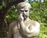 चंद्रशेखर आजाद की प्रतिमा पर पोता काला रंग, भाजपा सांसद बोले; कांग्रेस हमेशा करती है शहीदों का अपमान