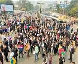 DC Office के बाहर वकीलों का प्रदर्शन, एसटीएफ इंचार्ज को डिसमिस करने की मांग Ludhiana News