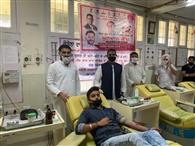 युवा कांग्रेस ने 170 यूनिट रक्तदान किया